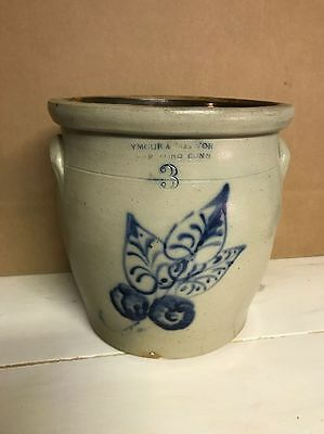 Antique Seymour & Bosworth Number 3 Crock Harford, CT Late 1800's