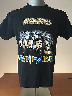 2008 IRON MAIDEN T-Shirt BOGOTA COLOMBIA Somewhere Back in Time Tour NEVER WORN