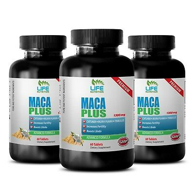 American Ginseng - Maca Premium 1275mg - Orchic Substance, Eleuthero Root  3B
