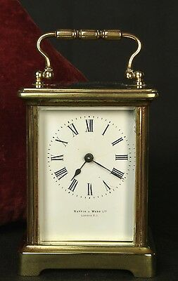 Small Mappin & Webb French Movement Carriage Clock With Original Key / Working