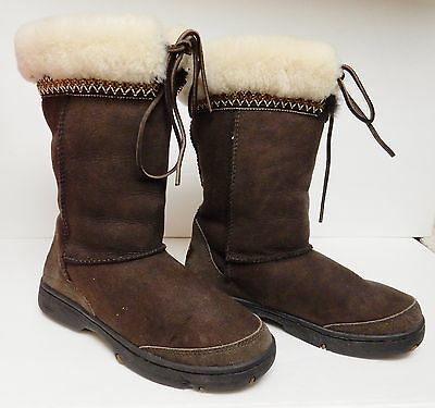 4e26a6042a1 UGG TAN BROWN Toast Cove Leather & Sheepskin Ankle Boots / Women's ...