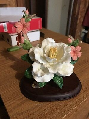 Bone China Camille and Azaleas Figurine  Home Interior 89830-98  Homco