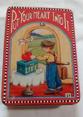Mary Engelbreit Metal Tin Put Your Heart Into It