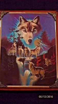 Metal Etchings Beautiful Wolf Picture