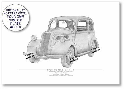 Ford Eight 7Y 1938 A5 print