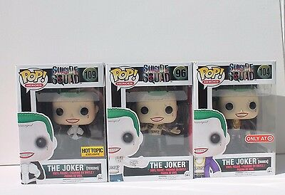 Funko Pop Suicide Squad Joker Never Opened Lot Of 3