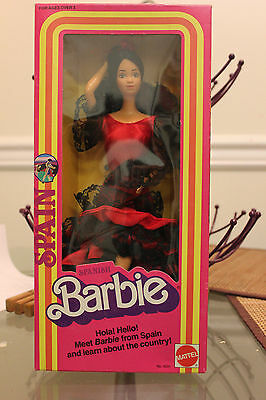 Barbie Doll Spanish Spain Barbie 1982 Mattel Dolls of the World