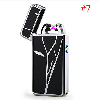 USB Electric Dual Arc Plasma Pulse Lighter Rechargeable Windproof Flameless #7