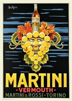 Vermouth perucchi retro vintage style metal wall plaque sign