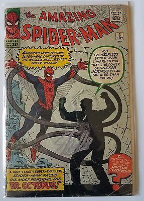 The Amazing Spider-Man 3 1st App Doc Octopus Not CGC or CBCS Signed By Stan Lee!