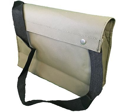 Canvas Tool Bag With Shoulder Strap Solid Base  Heavy Duty Storage Toolbag Green