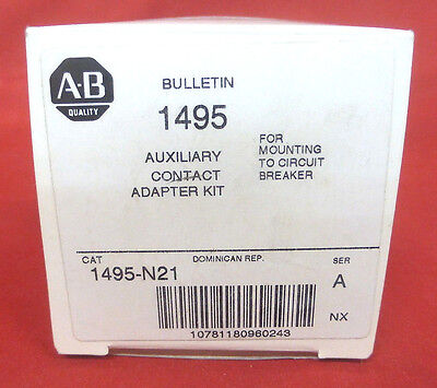 Allen-Bradley 1495-N21 *new* Auxiliary Contact Adapter Kit Ser A  (3F4)