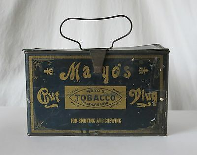Mayo's Cut Plug Vintage Tobacco Tin Lunch Pail