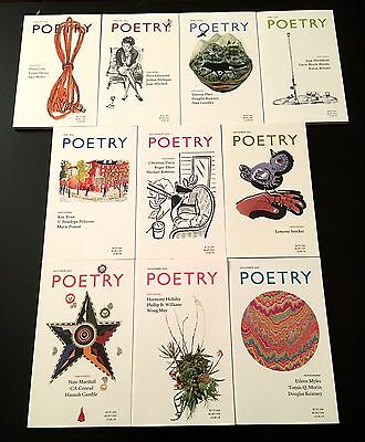 Poetry Magazine 2013 - Lot of 10 Back Issues (Literary)