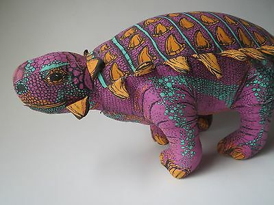 Vintage 1992 Applause Determined Productions Anklosaurus Plush Spikes Sauropelta