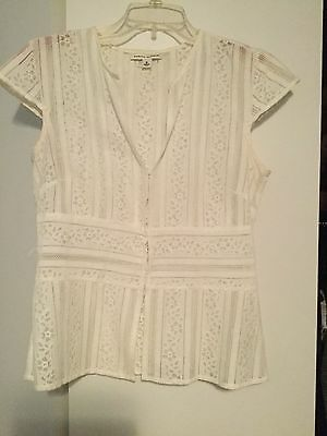 8b673182d80283 WOMEN'S BANANA REPUBLIC top in white size medium - $25.20 | PicClick