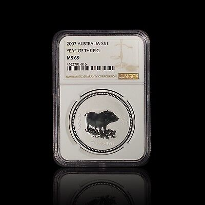 2007 Australia Year of the Pig NGC MS 69