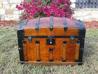1870's refinished dome top trunk