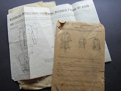 Antique Late 1800s Sewing Pattern Butterick Middy Blouse Envelope Instructions