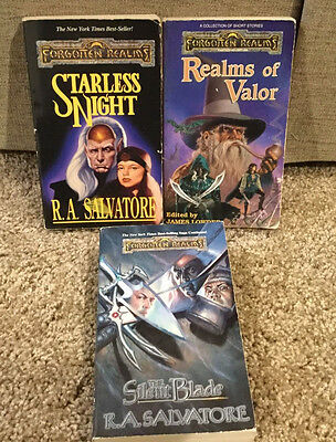 2 R.a. Salvatore Paperback Novels Forgotten Realms Fantasy Books,1-Short Stories