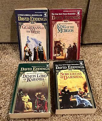 Books 1-4 Of The Malloreon Series, David Eddings, Paperback Fantasy Novels