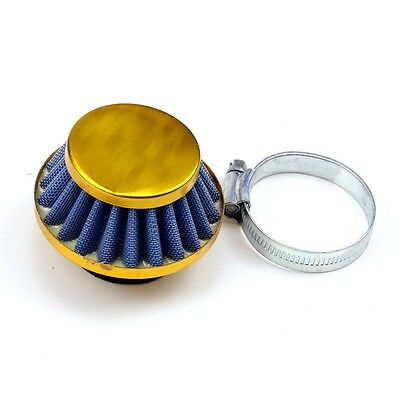 35mm gold Motorcycle Air Filter Pod For50cc-90cc MOTORCYCLE DIRT BIKE PIT BIKE