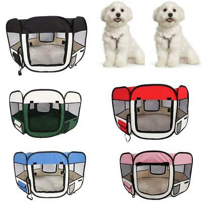 "36""45""57"" Pet Dog Kennel Fence Puppy Soft Playpen Exercise Pen Folding Crate"