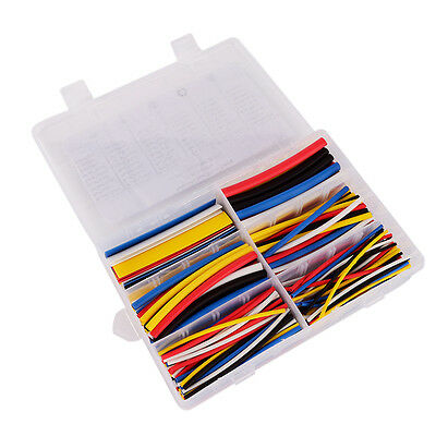 180x  Assortment 2:1 Heat Shrink Tubing Tube Polyolefin Sleeving Wrap Cable Wire