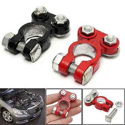 2x Car Battery Terminals Quick Release Connector Terminal Clamp Heavy Duty 12V