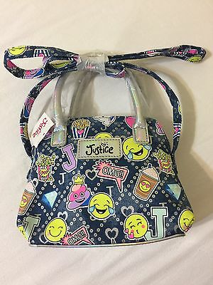 Justice for Girls Denim Emoji Crossbody Bag Purse NEW with Tags!