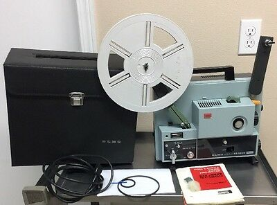 Elmo St-1200 super 8 sound projector Good condition With Case, Manual, New Belts