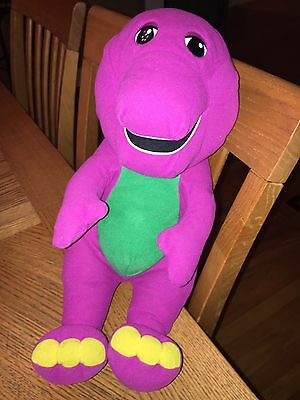 VINTAGE Playskool Talking Barney The Dinosaur Interactive 1996 Plush Toy Great!