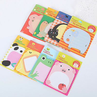 4pcs Cute Cartoon Forest Animal Memo Pad Sticky Note Post Page Marker Planner