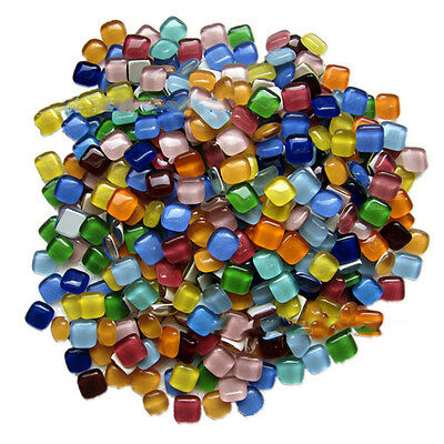 100g 12x12mm Mixed Colour Vitreous Glass Mosaic Tiles DIY Art & Craft Supplies