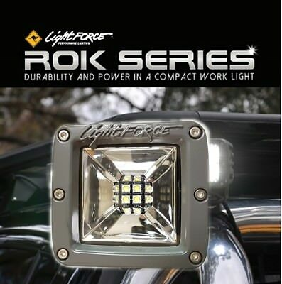 Lightforce LED ROK40 Ultra Flood Work Light 40W (4x10W CREE) 5000K & Wiring Harn