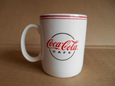 COCA-COLA CAFE  12oz. WHITE COFFEE MUGS / CUPS BY GIBSON 2002