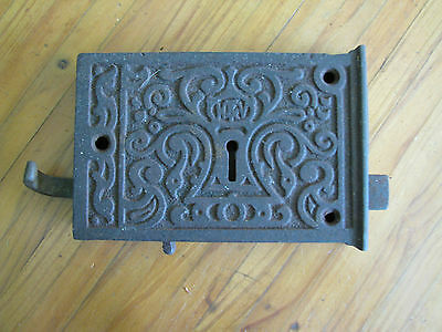Late Victorian Cast Iron Rim Lock With Keep