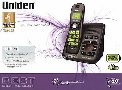 Uniden Dect1635 Cordless Phone Wall Mount Ans System Works In Blackouts New
