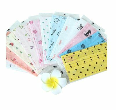 Printed Disposable Face Medical Masks Non-woven Fabric Surgical Dental Health 30