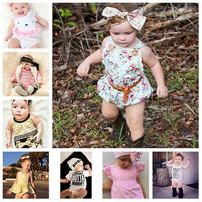 AU Newborn Kids Baby Boys Girls Cute Tops Romper Toddler Outfits Cotton Clothes