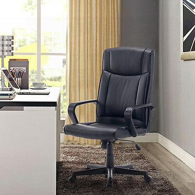 Executive Luxury Swivel Adjustable PU Leather Computer Extra Padded Office Chair