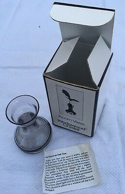 Boxed Wedgwood 24% lead crystal acorn vase by Frank Thrower
