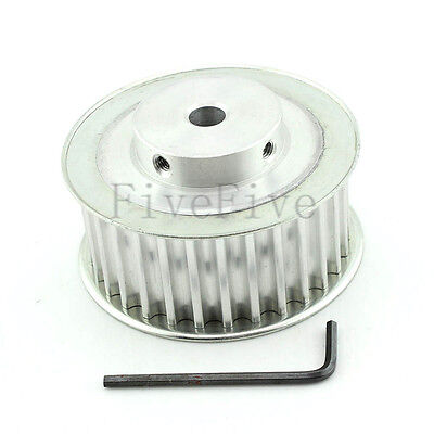 HTD8M 30T 8mm-20mm 1/2'' Bore 32mm Width 8mm-Pitch Timing Belt Drive Pulley