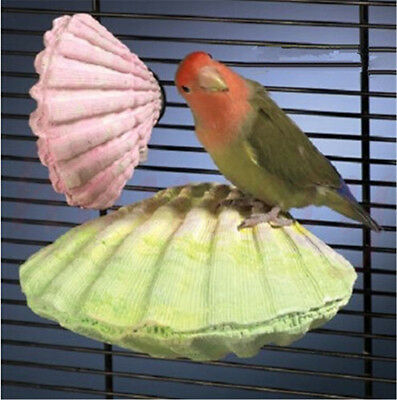 1pcs Parrot Bird Cage Stand Platform Perches Coin Pet Toy Budgie Hamster