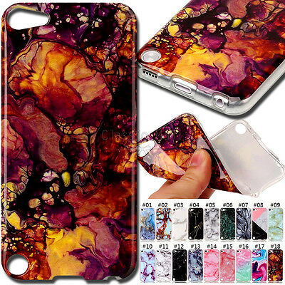 For Apple iPod Touch 5 /6 TPU Cover Skin Silicone Rubber Stone texture Soft Case
