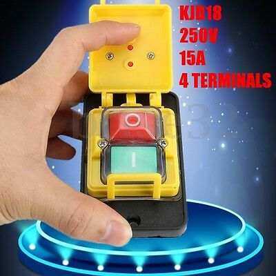 250V 15A KJD18 ON/OFF Switch 5 Terminals Suitable For Machines Woodworking