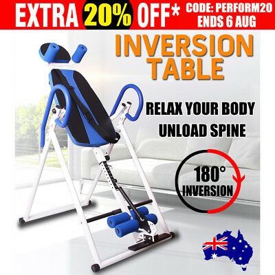 Inversion Table Gravity Fitness Folding Chronic Upside Down Back Pain Home Gym