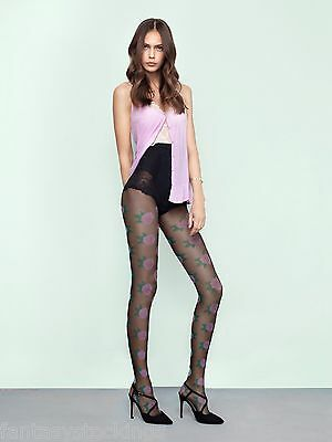 1e8bc6f34e1b00 Pink Punk Floral Pantyhose Fiore 20 den pattern summer tights, Made in  Europe