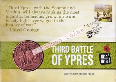 Australia - 2017 - THIRD BATTLE OF YPRES Centenary of WW1 1917 Medallion PNC/FDC