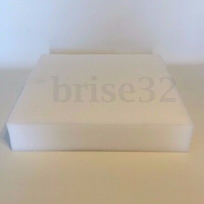 """18""""x 20"""" White High Density Seat Foam Cushion Pad Replacement Upholstery Firm"""
